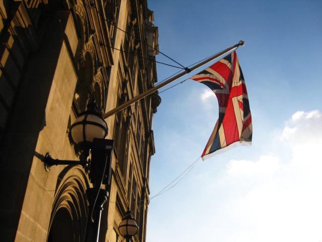 「ロンドンにあるイギリスの国旗ユニオンジャック」のフリー写真素材を無料ダウンロード