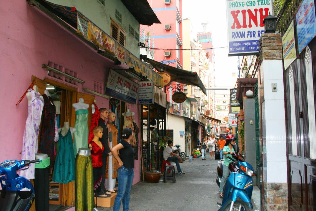 Back street in Ho Chi Minh City