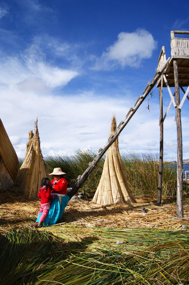 Free stock photos of [Uros, a floating island of Lake Titicaca where the Ur people live]
