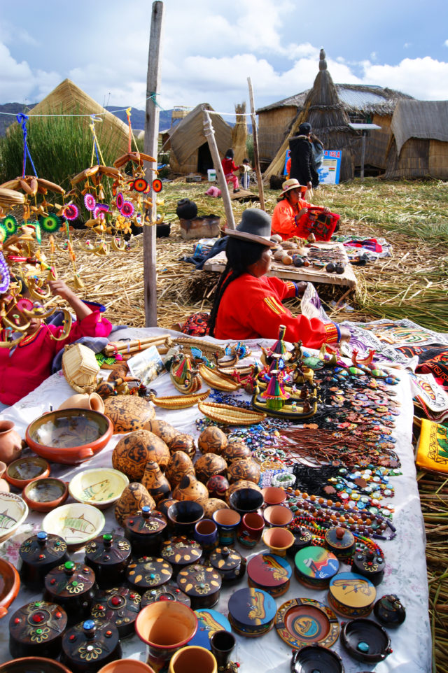 Free stock photos of [Floating Island of Lake Titicaca Souvenirs of Uros Folk Crafts]