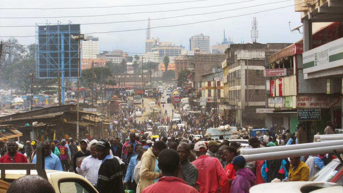 Walking through downtown Nairobi, the Kenyan capital