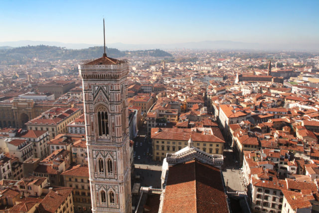 """Free stock photos of [""""Florence and Campanile di Giotto"""" as seen from the Duomo cupola]"""