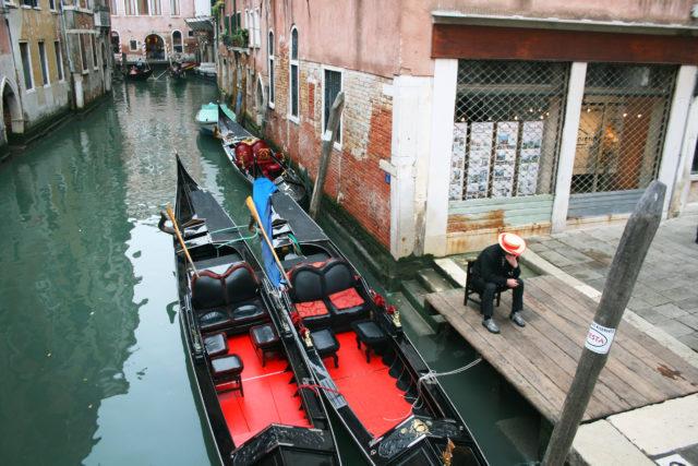 Free stock photos of [Venice Gondola and Gondoliere]