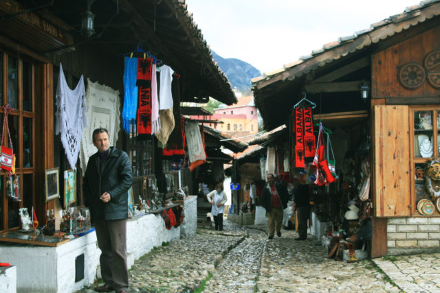 Free stock photos of [Souvenir shop street in the ancient city of Kruje]