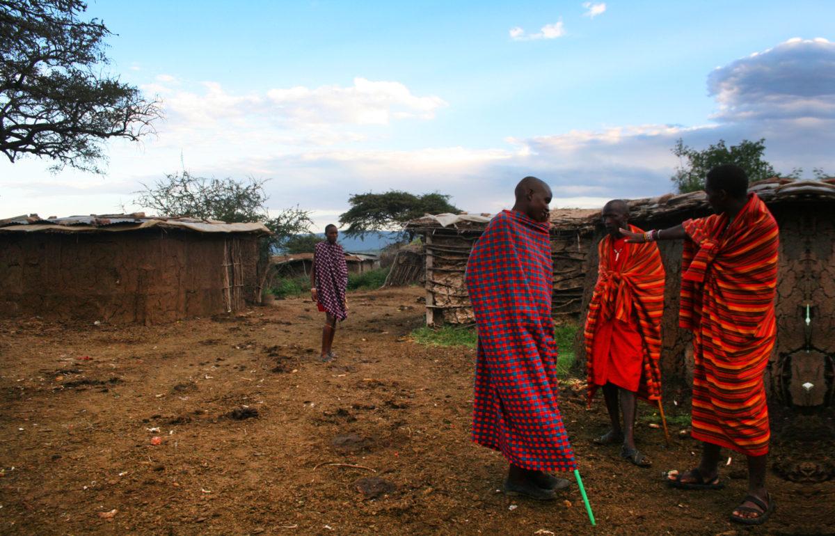 "Village of ""Maasai"" ethnic minority representing Kenya"