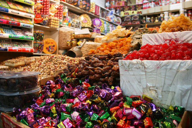 Free stock photos of [A lively candy store in Via Dolorosa]